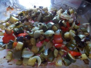 Salade de blé au poulet et légumes confits DSCN5100