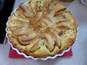 Flognarde aux pommes et aux marrons P1010969