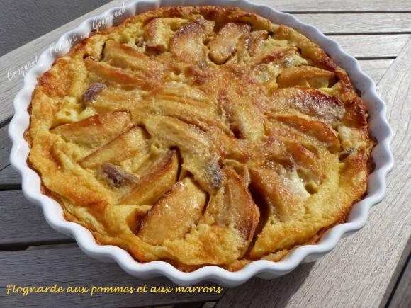 Flognarde aux pommes et aux marrons P1010987