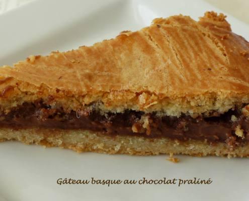 Gâteau basque au chocolat praliné P1020127