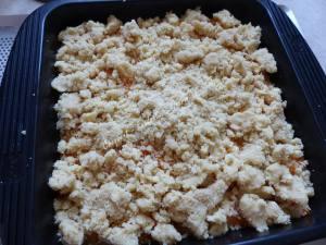 Crumb cake à l'abricot P1040115