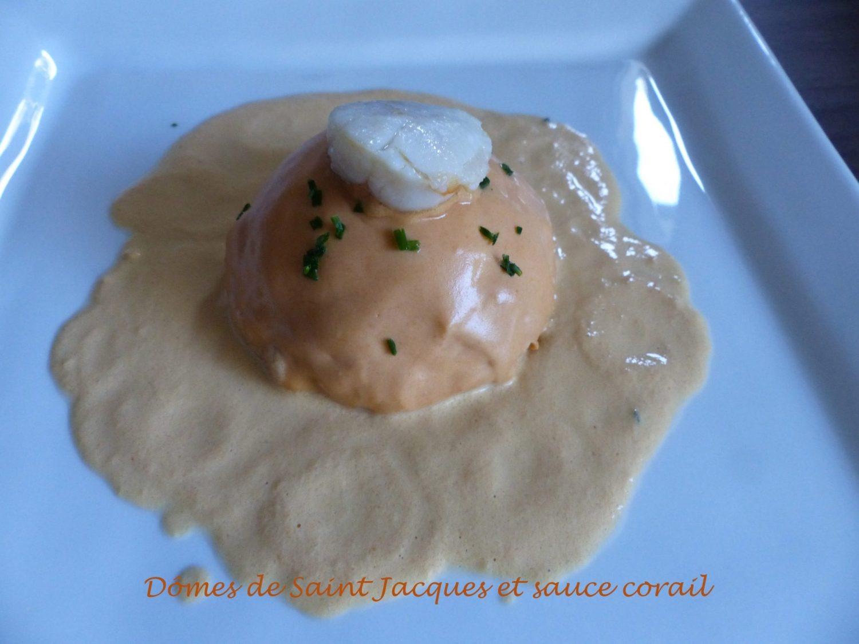 Dômes de Saint Jacques et sauce corail P1060802 R