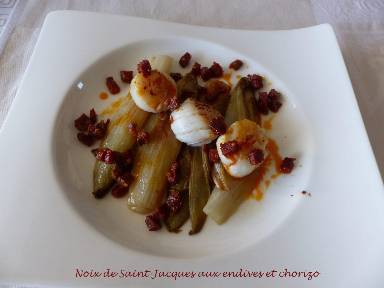 Noix de Saint-Jacques aux endives et chorizo P1080574 R