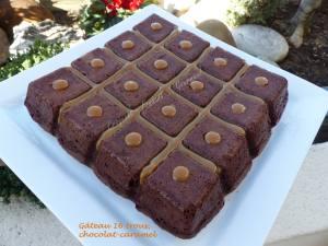Gâteau 16 trous, chocolat-caramel P1020375