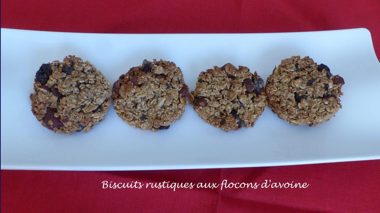Biscuits rustiques aux flocons d'avoine P1080587 R