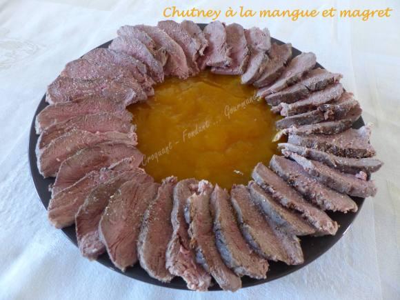 Chutney à la mangue et magret P1030450
