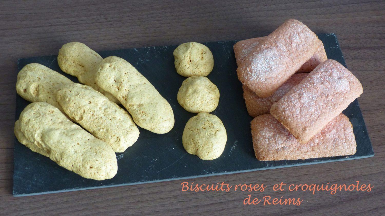 Biscuits roses et croquignoles de Reims P1100509 R