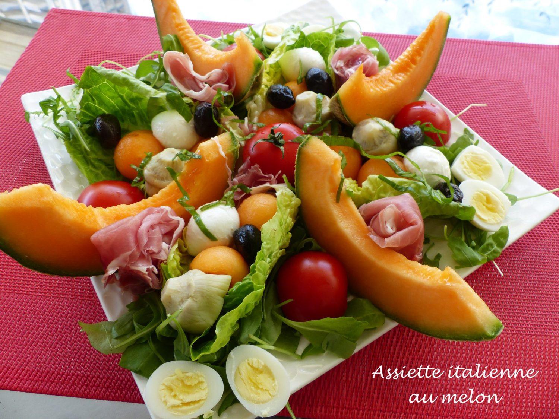 Assiette italienne au melon P1110754 R