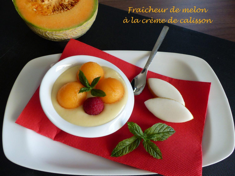 Fraîcheur de melon à la crème de calisson P1120083 R