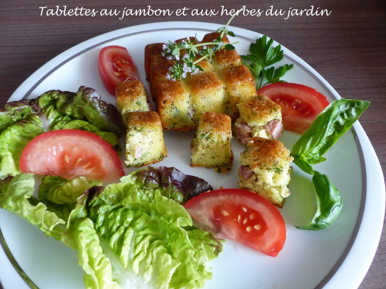 Tablettes au jambon et aux herbes du jardin P1110108 R