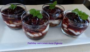 Petites verrines aux figues P1040838
