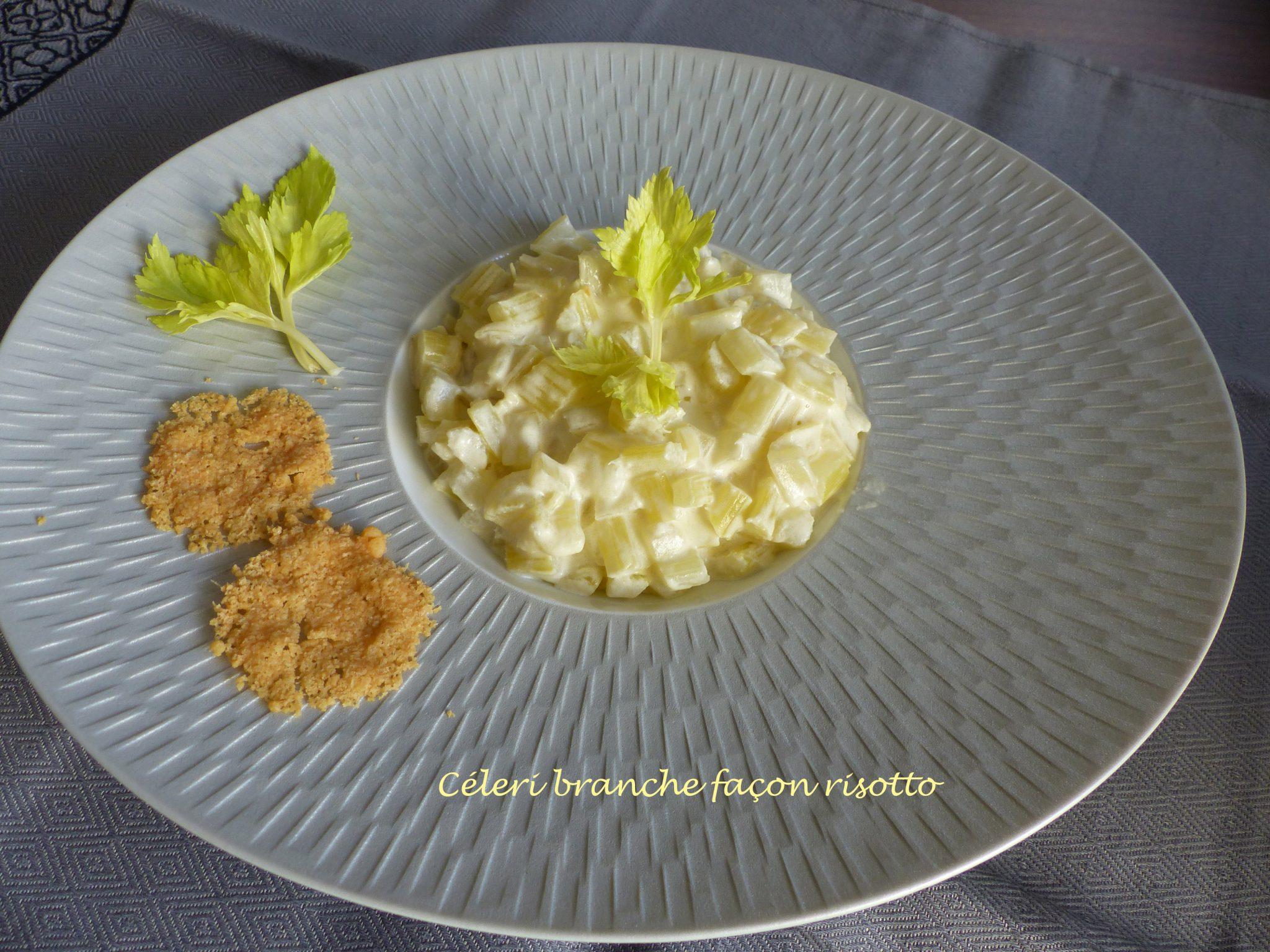 C leri branche fa on risotto croquant fondant gourmand - Cuisiner le celeri branche ...