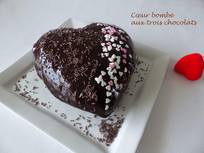 Cœur bombé aux trois chocolats P1090389 R