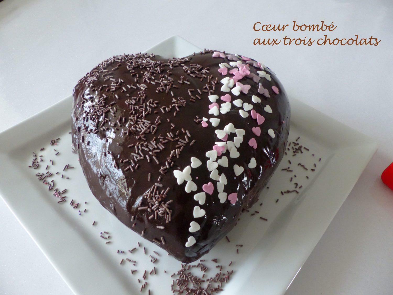 Cœur bombé aux trois chocolats P1090390 R