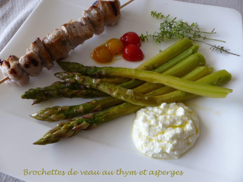 Brochettes de veau au thym et asperges P1100674 R