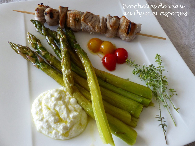 Brochettes de veau au thym et asperges P1100675 R