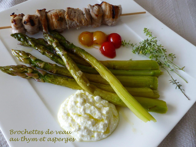Brochettes de veau au thym et asperges P1100677 R