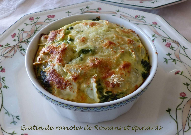 Gratin de ravioles de Romans et épinards P1180019 R