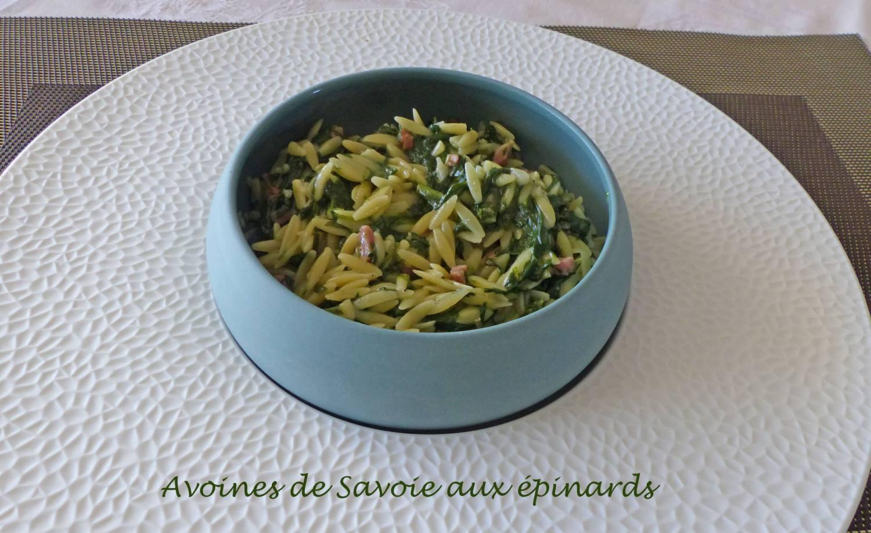 Avoines de Savoie aux épinards P1180087 R