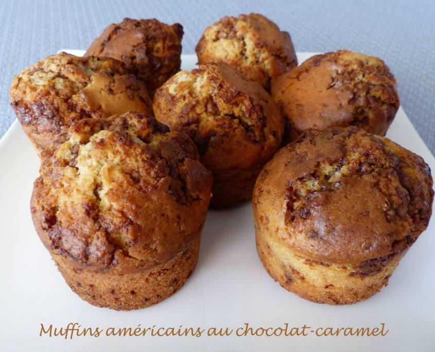Muffins américains au chocolat-caramel P1180663 R