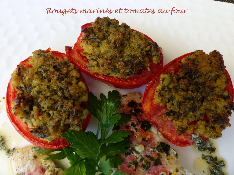 Rougets marinés et tomates au four P1180893 R