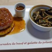 Tournedos de bœuf et galette de polenta P1200390 R