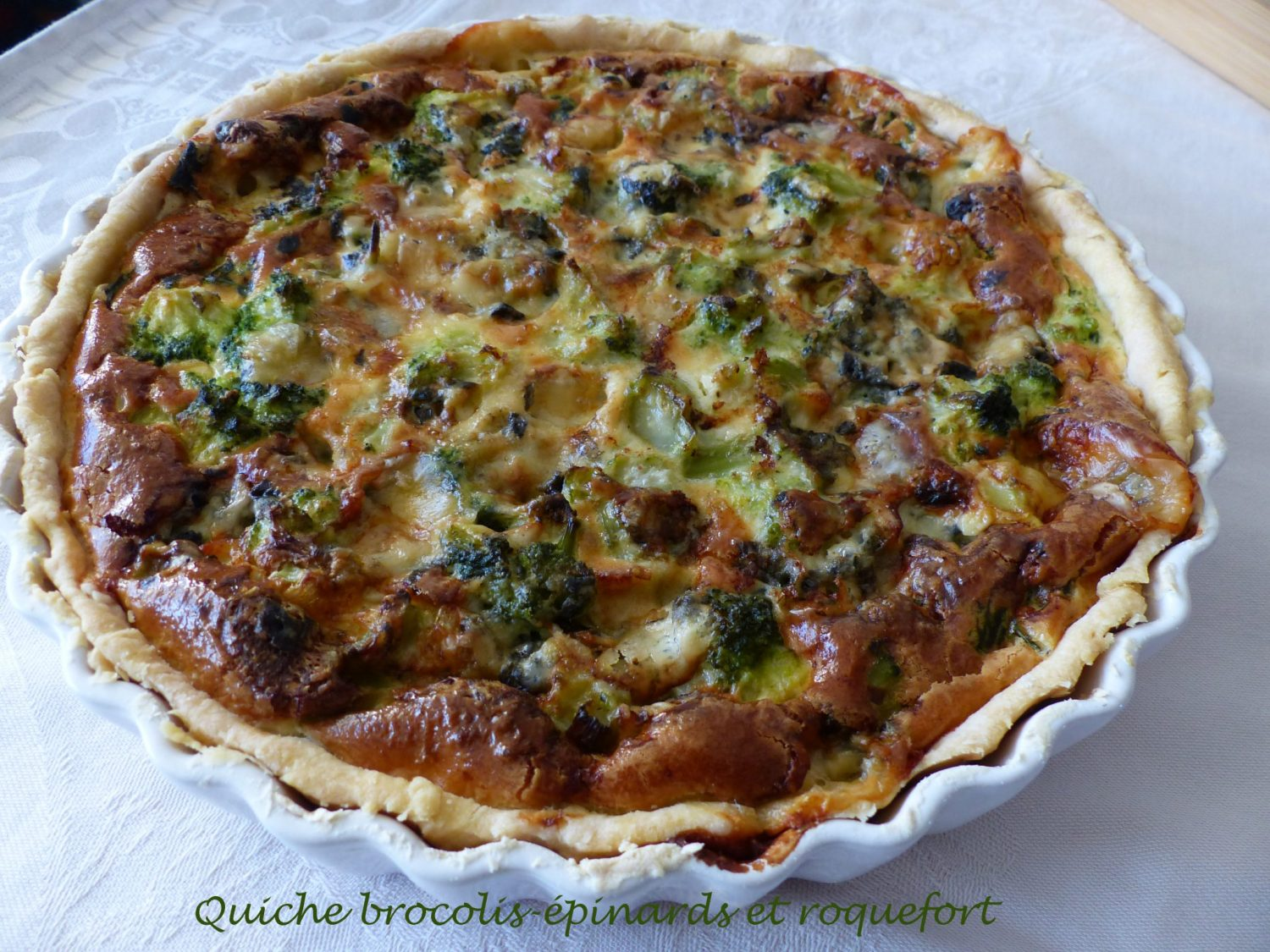 Quiche brocolis-épinards et roquefort P1140744 R