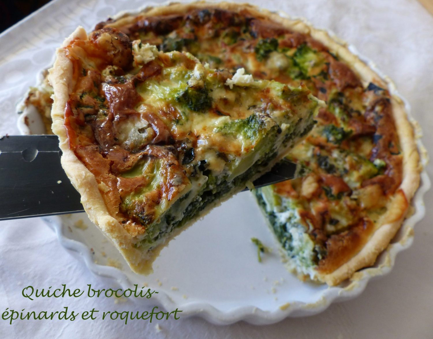 Quiche brocolis-épinards et roquefort P1140750 R