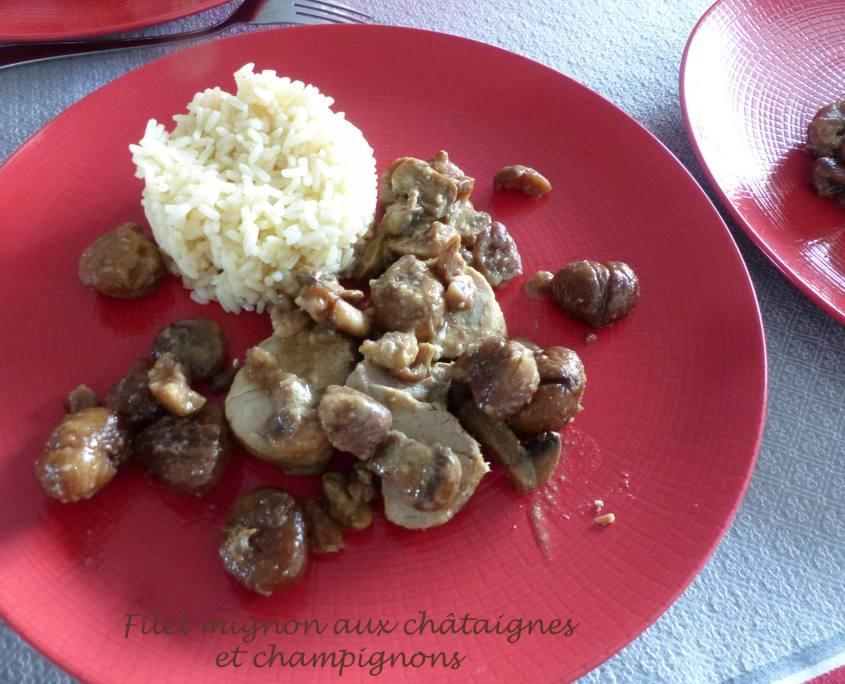 Filet mignon aux châtaignes et champignons P1220103 R