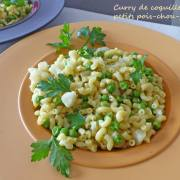 Curry de coquillettes petits pois-chou-fleur P1240653 R