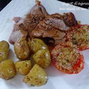 Gigot d'agneau au miel et au thym P1170319 R