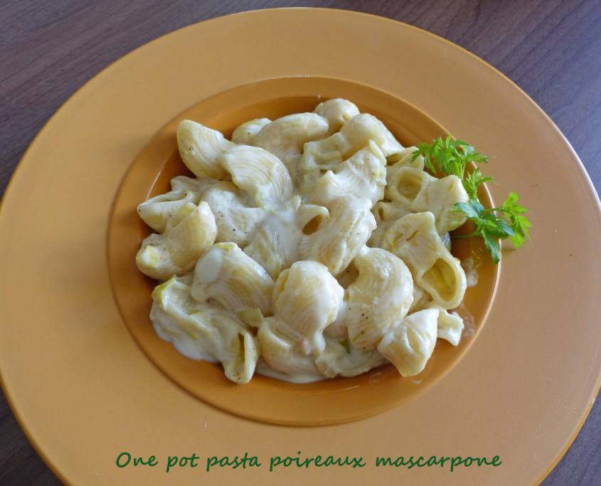 One pot pasta poireaux mascarpone P1240328 R