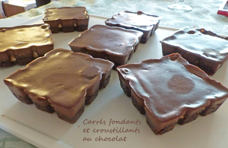Carrés fondants et croustillants au chocolat P1250868 R