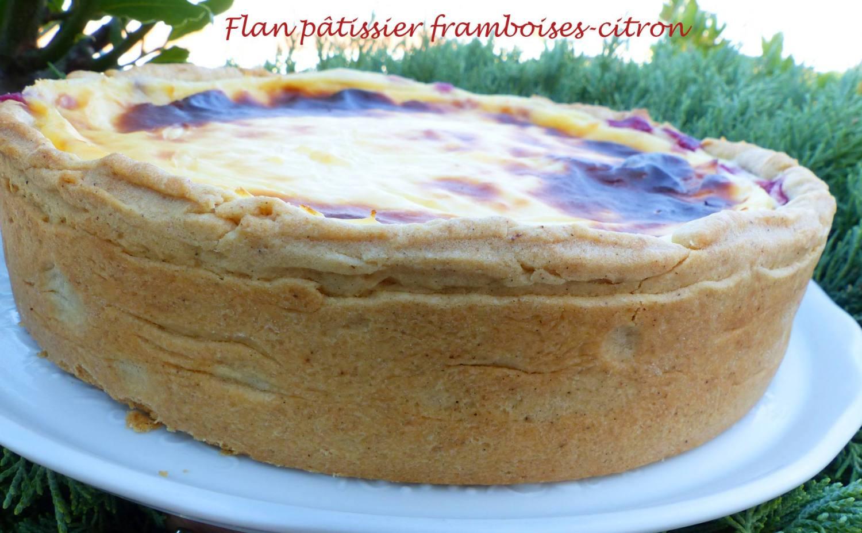Flan pâtissier framboises-citron P1190462 R