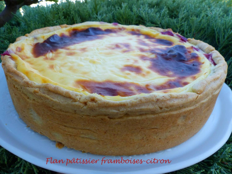 Flan pâtissier framboises-citron P1190464 R