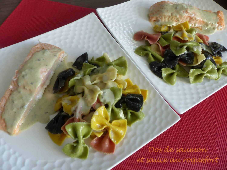 Dos de saumon et sauce au roquefort P1200909 R