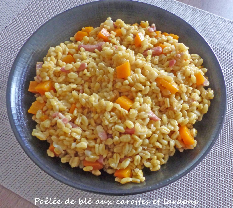 Poêlée de blé aux carottes et lardons P1270562 R