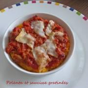 Polenta et saucisse gratinées P1280327 R