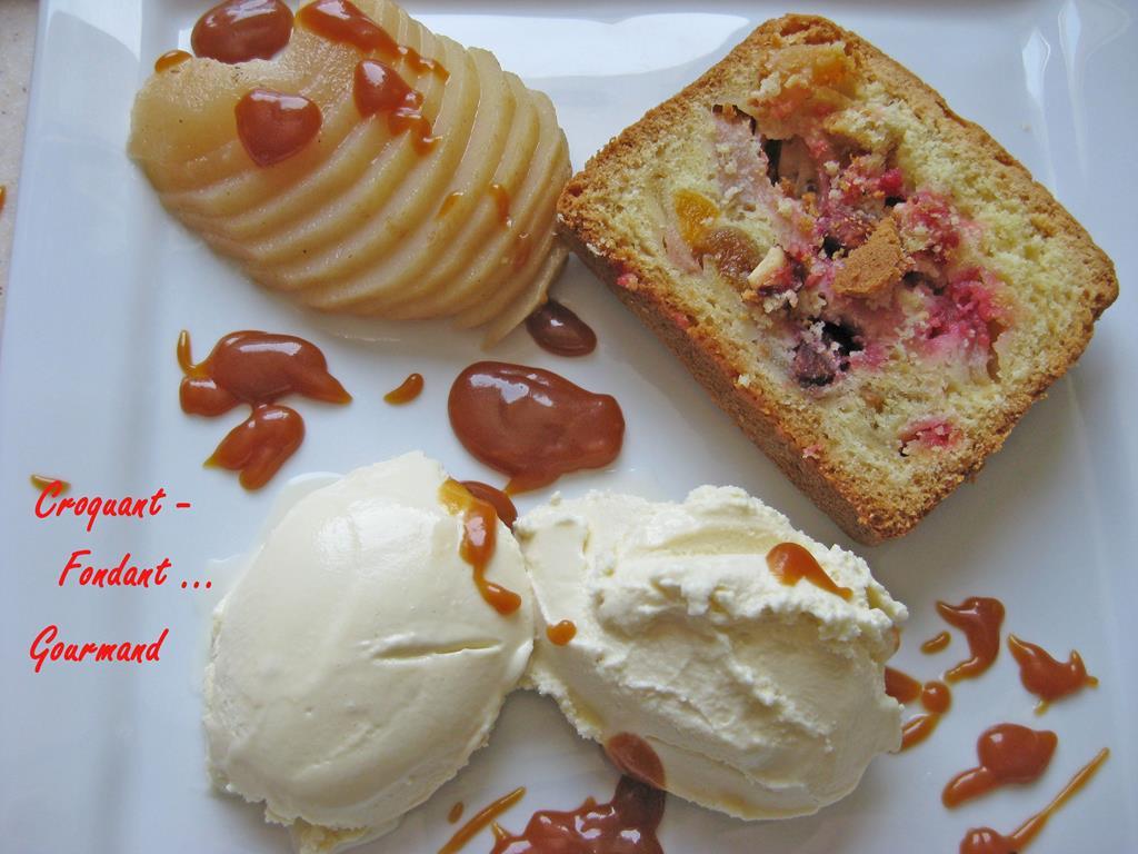 cake rose - poires pochées et glace au miel - mars 2009 152 copie (Copy)