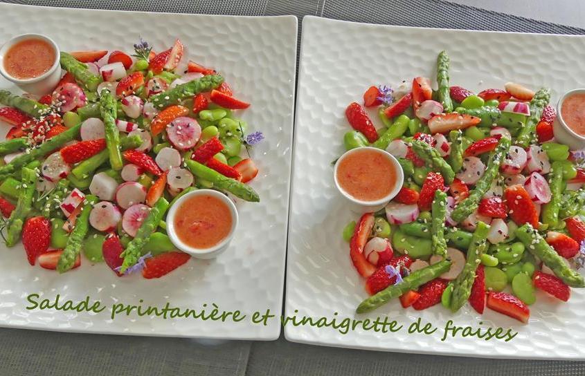 Salade printanière et vinaigrette de fraises P1010147 R (Copy)