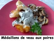 Médaillons de veau aux poires Index P1020002