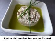 Mousse de sardinettes sur coulis vert Index P1040062