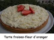 Tarte fraises-fleur d'oranger Index DSCN3670