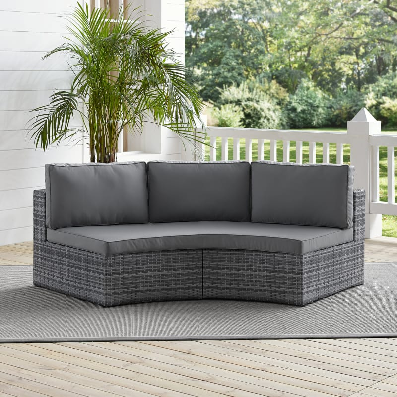 catalina outdoor wicker round sectional