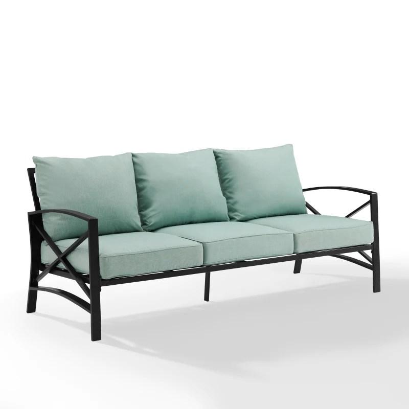 kaplan outdoor metal sofa