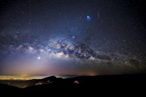 Milky Way, Venus, zodiacal light over Thailand