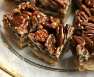 Image result for Glossy pecan toffee bars