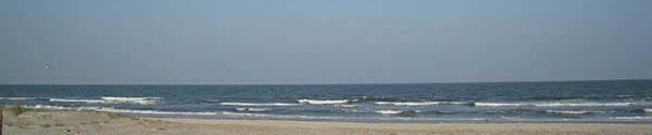 Moody ocean on a summer day