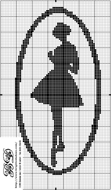 Dancer's Silhouette Cross Stitch Chart