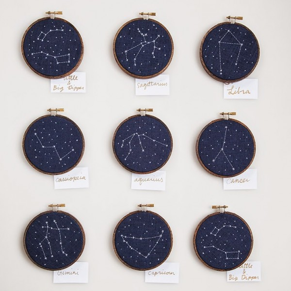 embroidered constellations are so pretty